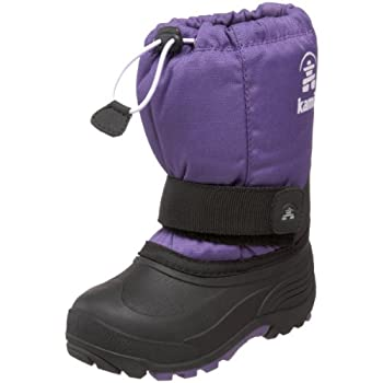 The perfect boot for outdoor play in chilly weatherWaterproof 600 denier nylon fabric upperReflective patch for enhanced visibilityRemovable 8mm Zylex® liner wicks away moistureComfort-rated to -40°FAdjustable snow collar with bungee lockHook and loo...