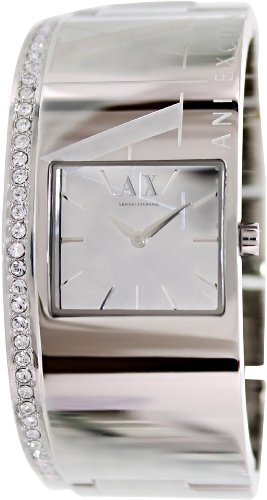 Armani Exchange Women's AX4203 Silver Stainless-Steel Quartz Watch with Silver Dial