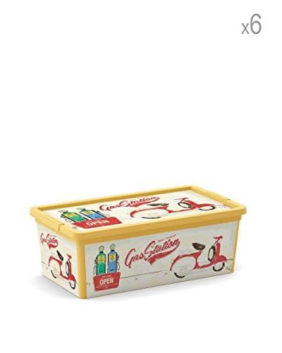 Kis Set 6 C Box Xs Multicolore