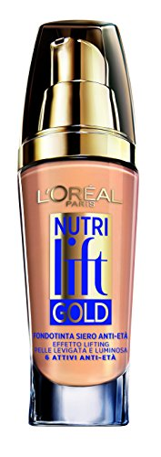 L'Oréal Make Up Designer Paris Nutri Lift Gold Fondotinta Siero Anti-Età, 210 Golden Natural