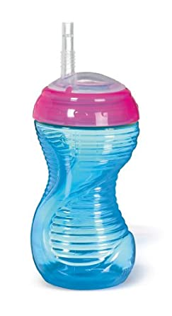 Munchkin 2 Pack Mighty Grip Straw Cup, 10 Ounce, Colors May Vary