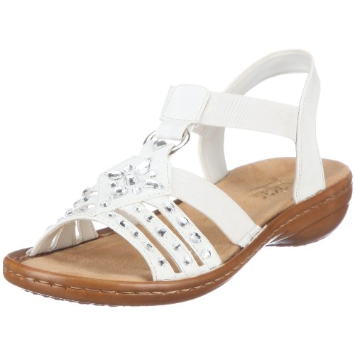 Rieker Women's Regina 60802-80 Bianco Ankle Strap 60802-80 6 UK