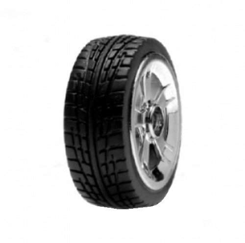 Team Losi Micro 22's On-Road Tire Set, Chrome, Mounted (4) - 1