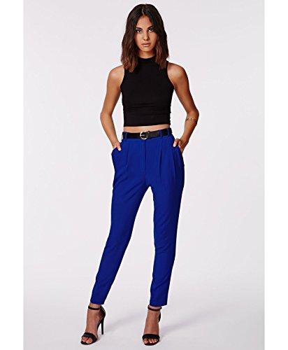 pantalon taille haute femme femmes uttara bleu taille haute pantalon cigarette 10. Black Bedroom Furniture Sets. Home Design Ideas
