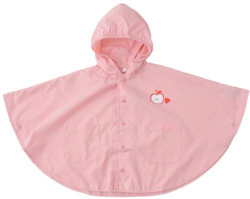 パトリア(Patria) Girlsワンポイント レインポンチョ A6197-Pink 80cm ピンク