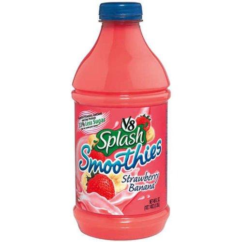 V8 Splash Strawberry And Banana Smoothie, 46 Ounce Bottles (Pack Of 6)