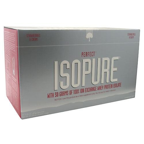 Perfect Isopure - Pure Whey Protein Isolate With Zero Additives Strawberries & Cream 20 packets
