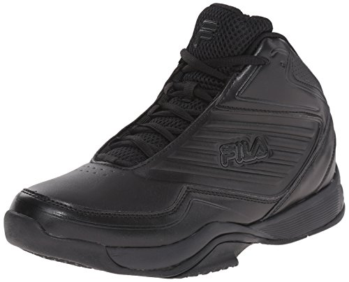 Fila Men's Import Basketball Shoe, Black/Black/Black, 10.5 M US