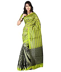 RockChin Fashions women's silk saree (RC-2019_Green)