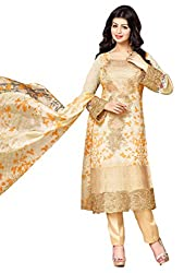 Mahaveer Fashion Women's Dress Material (8962_25_72008_Beige_Free Size)