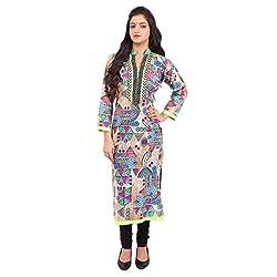 Radhya Women's Unstiched Kurti (Pan16_Multi Color)