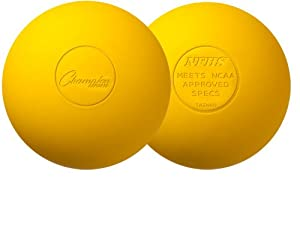 Champion Sports Official Lacrosse Balls (Yellow, Pack of 12)