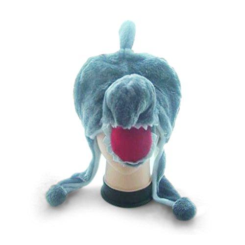 TopTie Weichtier Hut mit Ohrenklappen, Pelztier Hood Cap - Shark