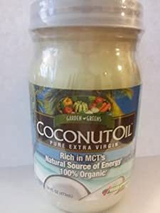 Garden Greens Coconut Oil Pure Extra Virgin 100% Organic-16 Oz