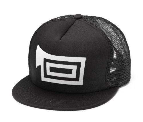 Tubainc Black Trucker Hat With White Logo