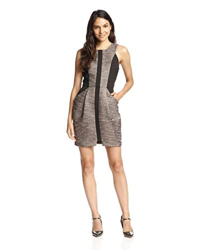 Adelyn Rae Women's Tweed Colorblock Sheath Dress