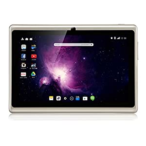 Dragon Touch Y88X Plus 7'' Quad Core Google Android 4.4 KitKat Tablet PC, IPS Display, HD Screen 1024x600, 8GB, Bluetooth, Dual Camera - Apricot White
