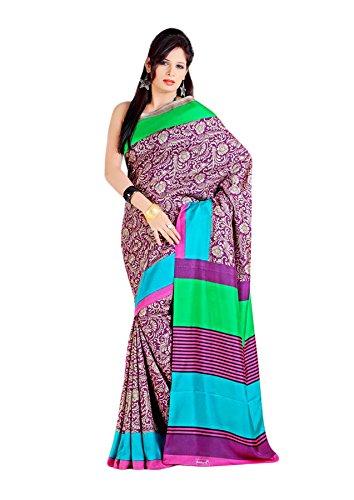 Shri Vaishnavi Indian Printed raw silk Saree(5450)