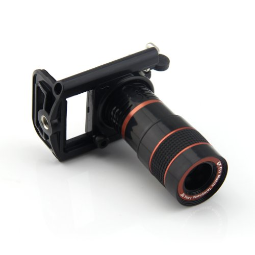 Lemfotm 8X Zoom Optical Lens Mobile Phone Telescope Camera For Iphone Sumsung Htc New Universal Clip Eightfold Magnifier With Holder