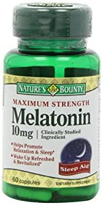 Nature's Bounty Maximum Strength Melatonin 10mg Capsules, 60-Count