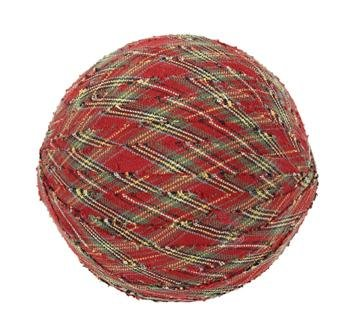 "Tea Cabin Decorative Fabric Ball #5, 4"" Diameter, Sold As Set Of 3"
