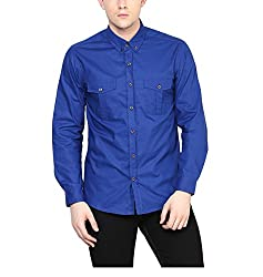 Yepme Men's Blue Cotton Shirts - YPMSHRT1117_44