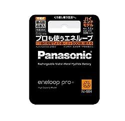 Panasonic eneloop pro 単4形充電池 4本パック(ハイエンドモデル) BK-4HCC/4