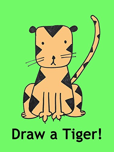 Drawing a Tiger Cartoon Step-By-Step: Art Lesson for Kids and Beginners