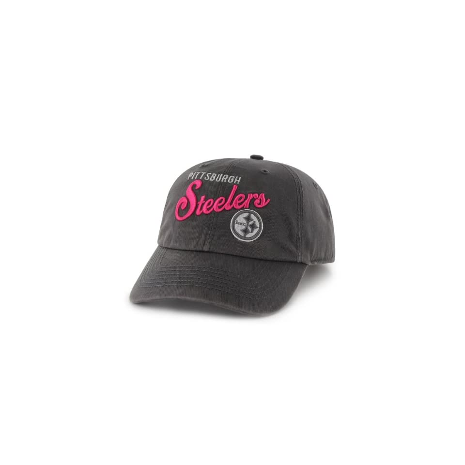 NFL Pittsburgh Steelers Womens Breast Cancer Awareness Audrey Clean Up Cap, Charcoal