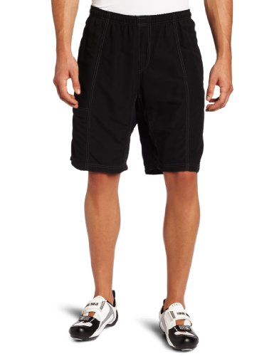 Canari Cyclewear Men's Mountain Canyon Gel Baggy Padded Cycling Short (Black, Large) (Baggy Padded Cycling Shorts compare prices)
