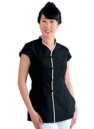 Jmt beauty women 39 s mandarin style spa uniform for Spa uniform amazon