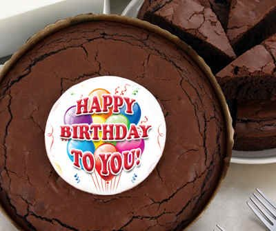 Birthday Brownie Cake - Balloons