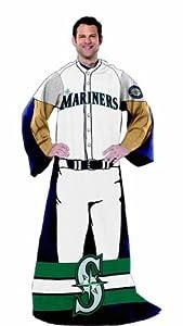 MLB Seattle Mariners Uniform Huddler Blanket With Sleeves by Northwest