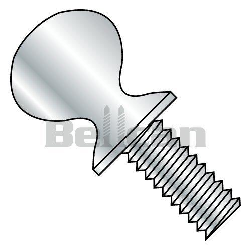 #10-24 x 1//2 Thumb Screws Quantity: 100 pcs No Shoulder Zinc Plating Steel Type B