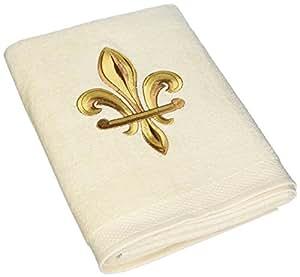 Avanti fleur de lis bath towel ivory - Fleur de lis bath towels ...