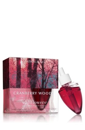 Bath and Body Works Slatkin & Co. CRANBERRY WOODS Wallflower Refills 2 Bulbs (Cranberry Woods compare prices)