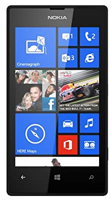 Nokia Lumia 520 RM-914 8GB Unlocked GSM Windows 8 Smartphone (Black) - International Version No Warranty