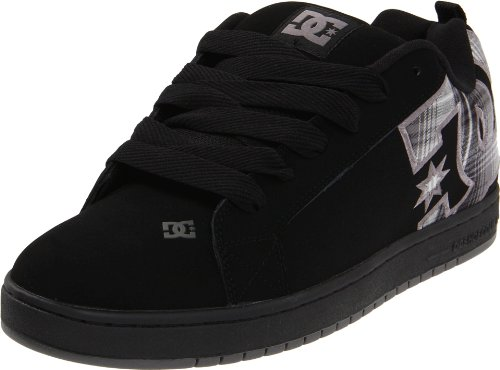 DC Den's Court Sneaker,Battleship/Plaid,6 D US