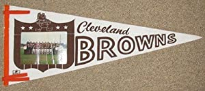 1964 Cleveland Browns Team Photo Felt Pennant - World Champs Browns 29 Team Photo... by Touchdown Treasures