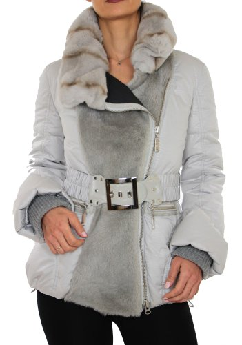 ERA Womens Down Jacket with Mutton and Rex Rabbit Fur<br />