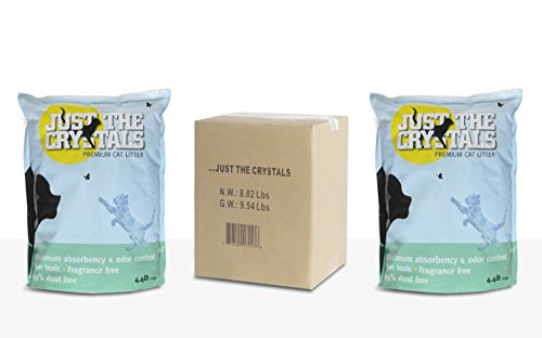 Just the Crystals Premium Crystal Cat Litter -- Fragrance Free and Pre-Measured to the Ideal 4.4 Pounds Per Bag, with TWO BAGS PER BOX (total 8.8lbs) for Maximum Convenience (Just The Crystals compare prices)