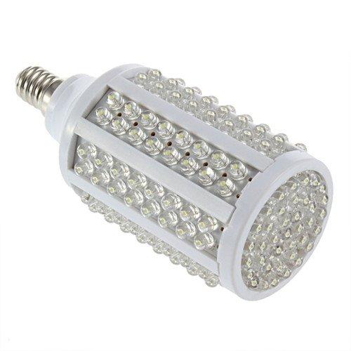 10W 166Led Pure White Led Corn Light Lighting Bulb E14 360° 220V Lamp T7
