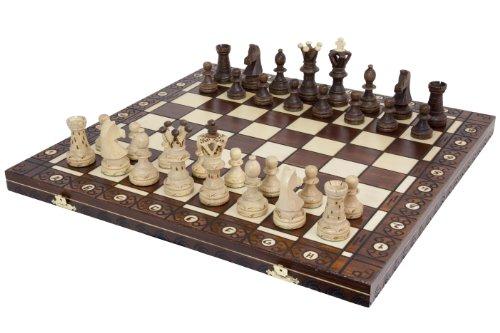Ambassador Handmade Wooden Chess Set w/ 21 Inch Board and Detailed Chessmen 0