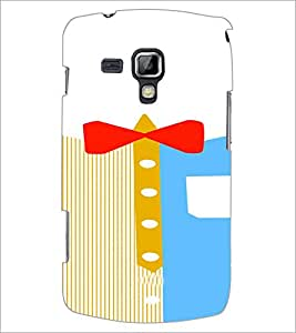 PrintDhaba Ribbon Design D-4839 Back Case Cover for SAMSUNG GALAXY S DUOS 2 S7582 (Multi-Coloured)