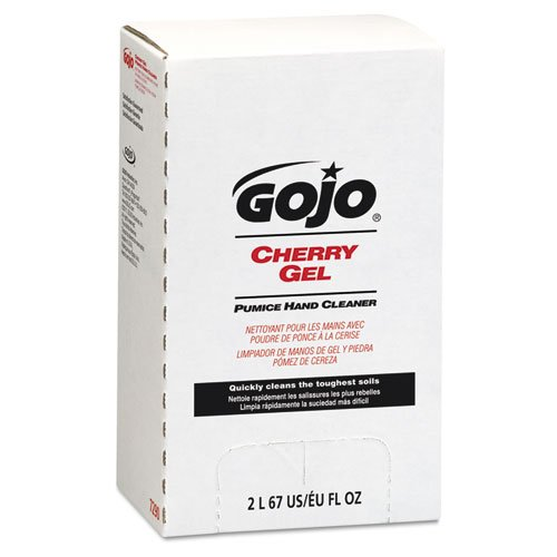 GOJO Cherry Gel Pumice Hand Cleaner 2000 ml Refill - Includes four per case.
