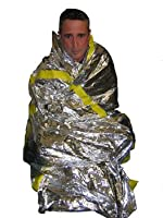 Mylar Emergency Survival Sleeping Bag (PACKAGE OF 2) for Survival Kit from SKO