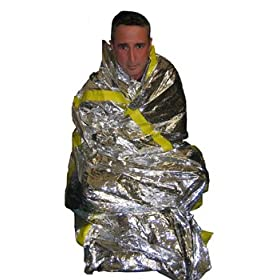 Mylar Emergency Survival Sleeping Bag Package Of 2 For Survival Kit