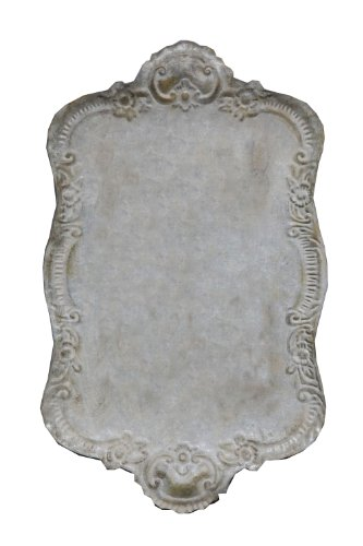 Creative Co-Op Tin Tray, Distressed Grey Finish