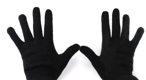 Duragadget Touch Screen Compatible Medium Gloves With Three Finger Capacitive Technology For Asus Transformer Prime Tf201, Eee Pad Transformer Prime 64Gb, Transformer Infinity, Tablet Junior 2 Mcf280, Tablet Ultra 2 Mcf375 & Tablet Advance 2 Mcf181