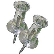 Hillman Fastener Corp 122640 Push Pins-CLEAR PUSH PINS